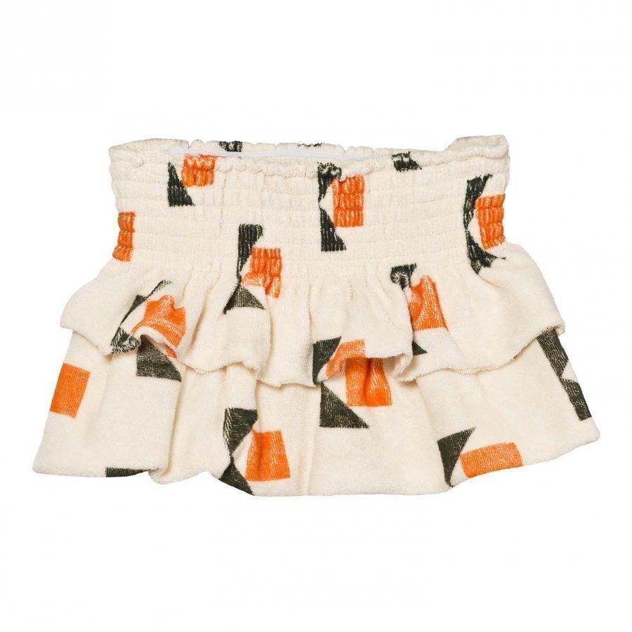 The Animals Observatory Kiwi Skirt Raw White Corn Lyhyt Hame