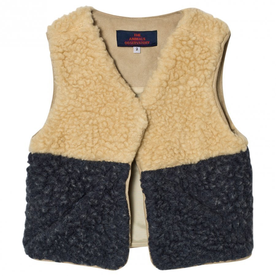 The Animals Observatory Lamb Vest Navy Blue Turkis