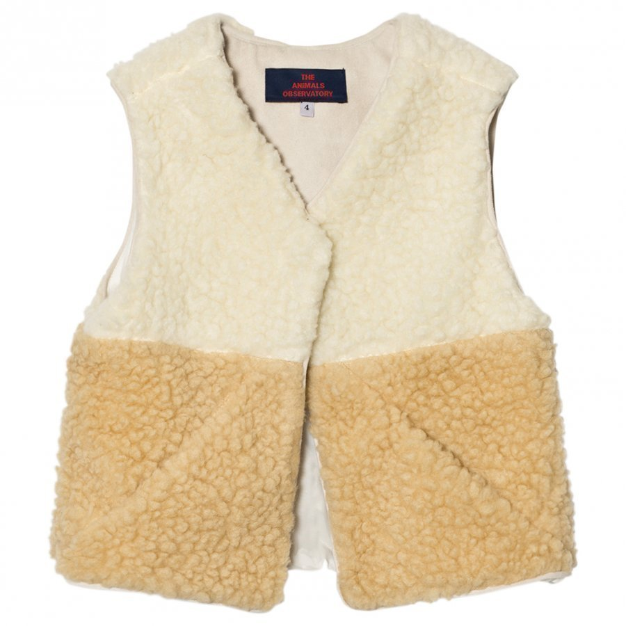 The Animals Observatory Lamb Vest Raw White Turkis