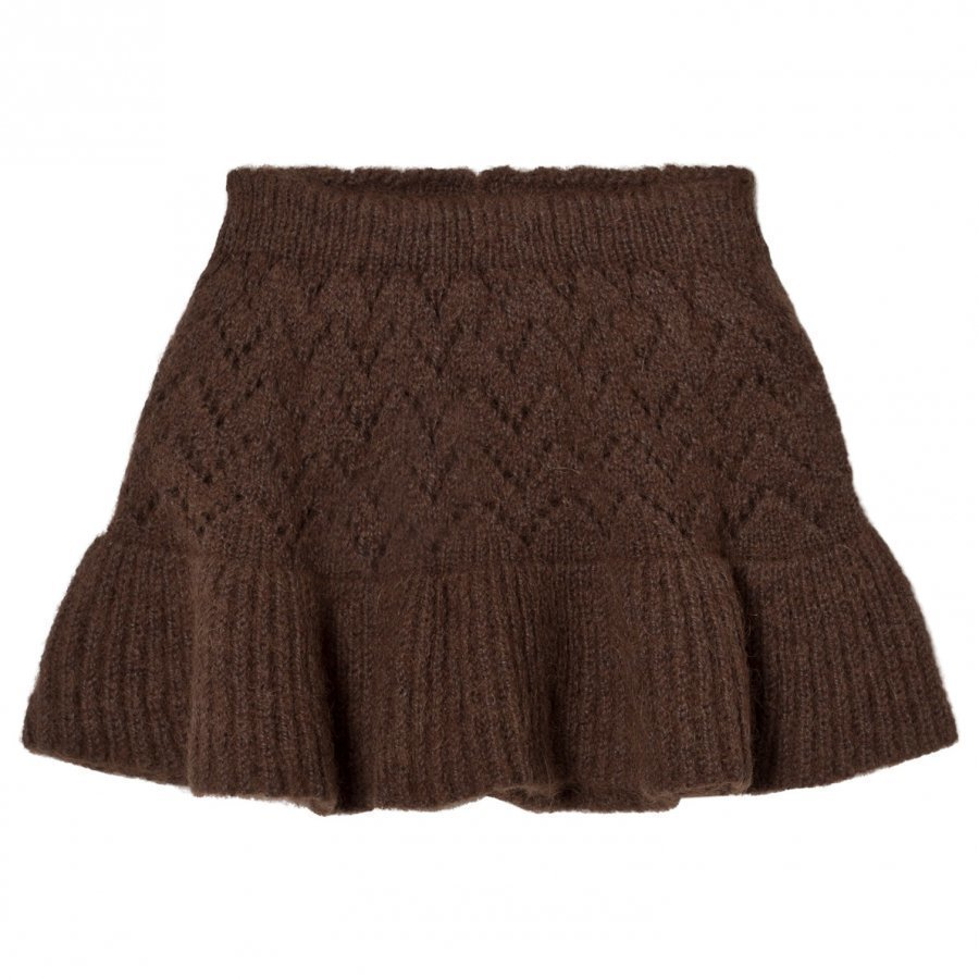 The Animals Observatory Lynx Knit Skirt Deep Brown Midihame