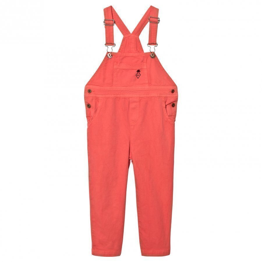 The Animals Observatory Miner Overalls Red/Black Logo Lappuhaalari