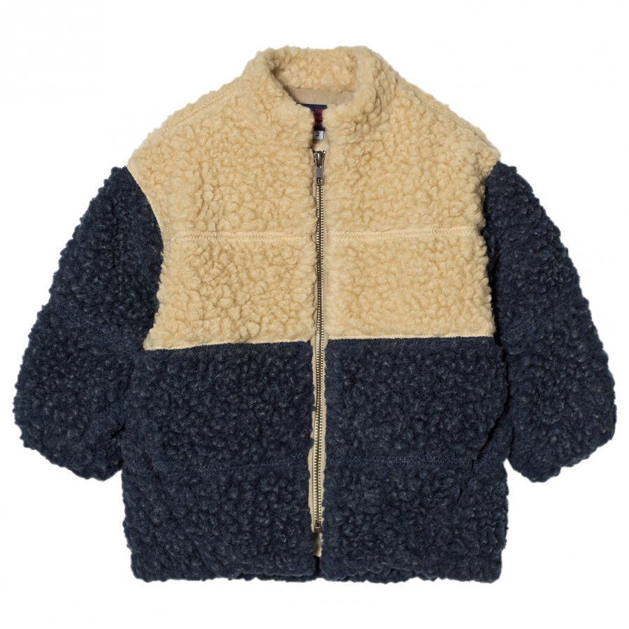 The Animals Observatory Panda Jacket Navy Blue Turkis