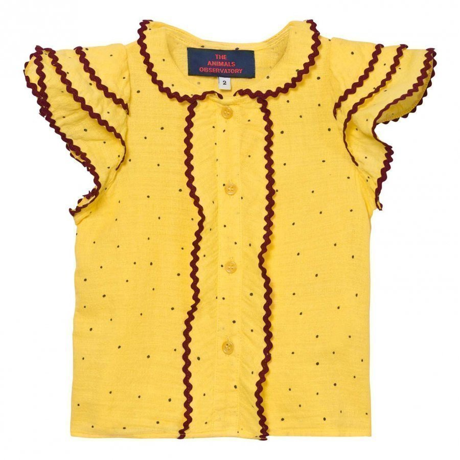 The Animals Observatory Parakeet Shirt Yellow Dots Pusero