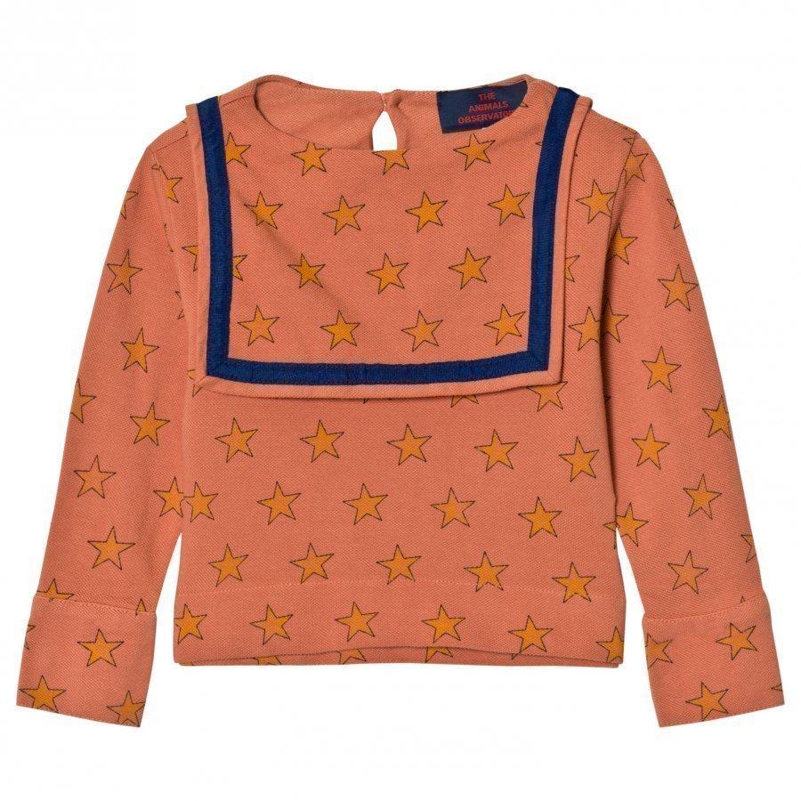 The Animals Observatory Parrot Shirt Deep Orange Stars Pusero