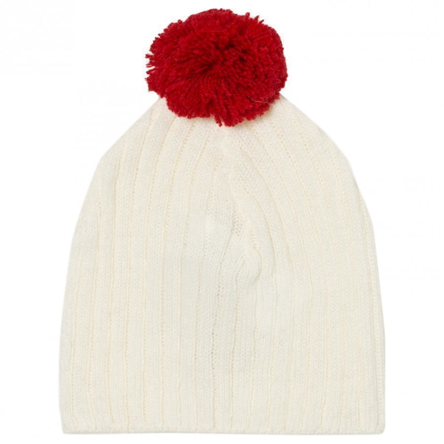 The Animals Observatory Pony Baby Knit Beanie Raw White Pipo