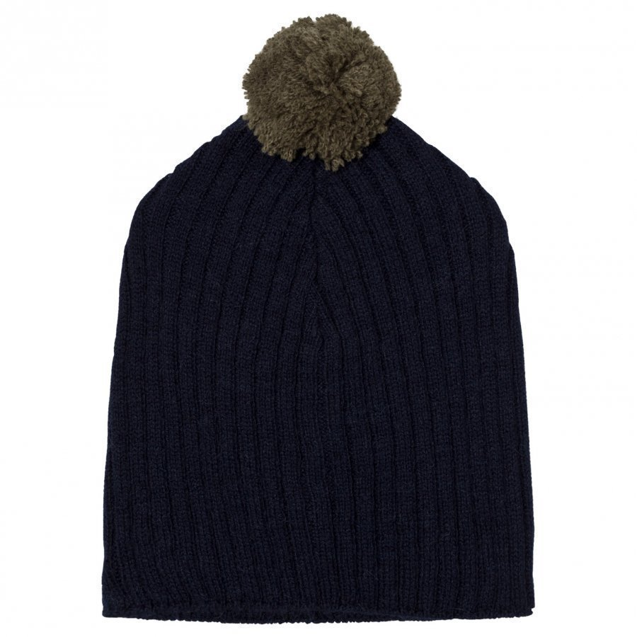 The Animals Observatory Pony Knit Beanie Navy Blue Pipo