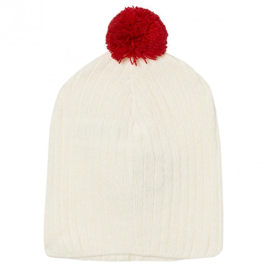 The Animals Observatory Pony Knit Beanie Raw White Pipo