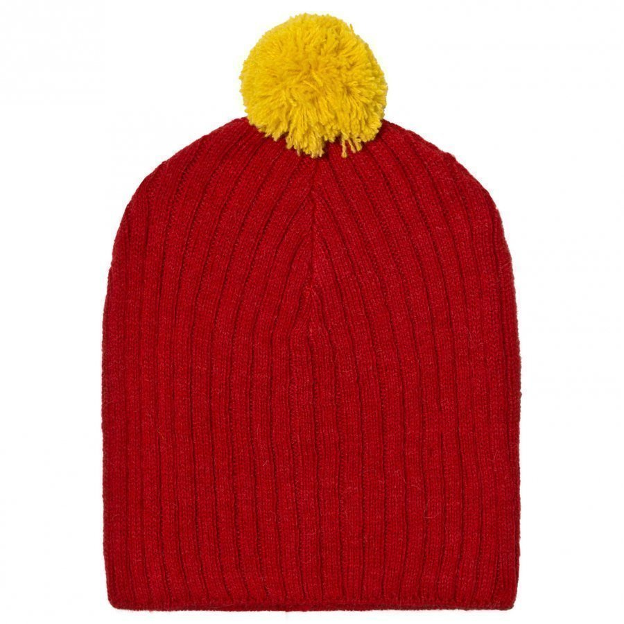 The Animals Observatory Pony Knit Beanie Red Pipo
