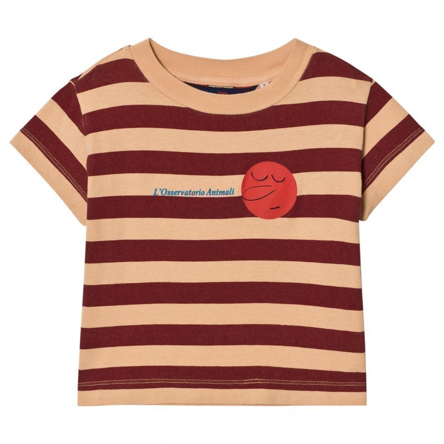 The Animals Observatory Rooster T-Shirt Cream Stripes T-Paita