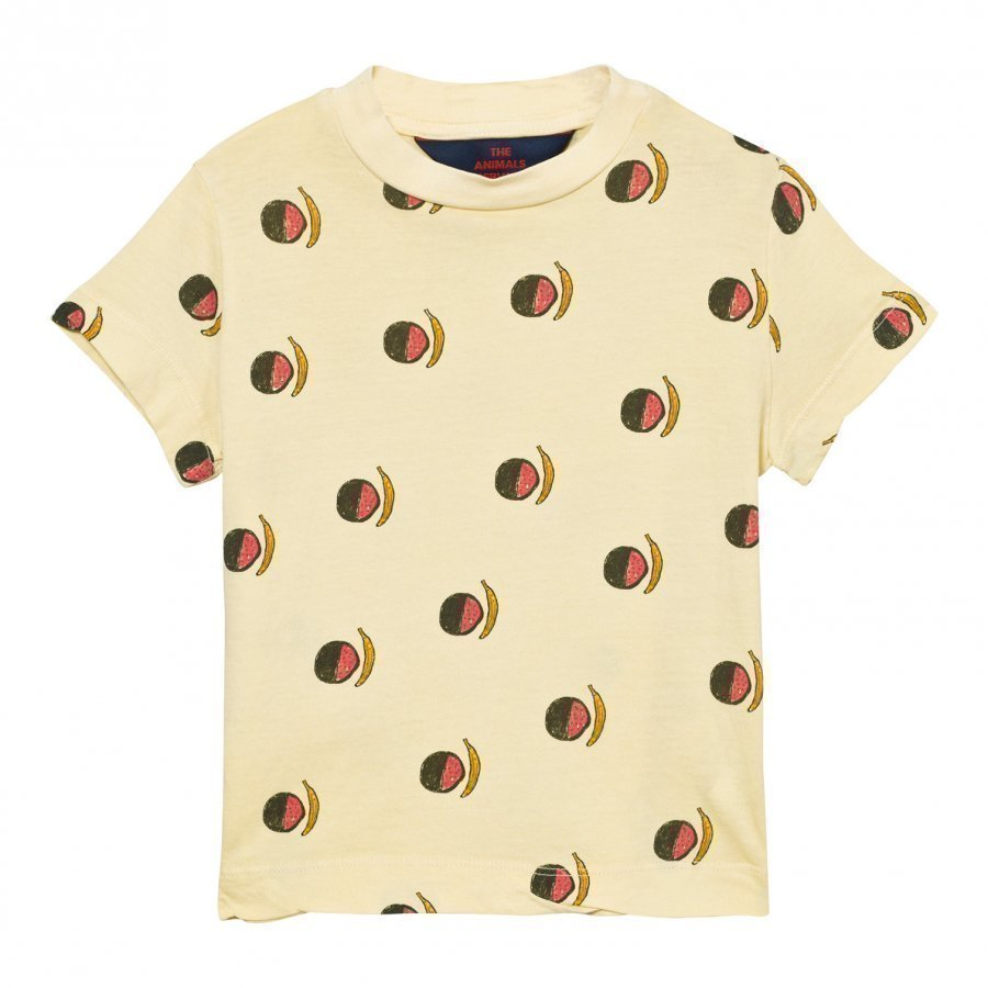The Animals Observatory Rooster T-Shirt Soft Yellow Fruit T-Paita