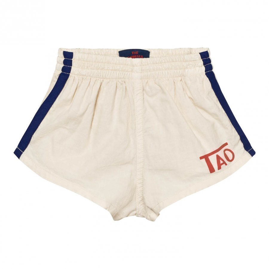 The Animals Observatory Spider Bermuda Shorts Raw White Tao Logo Urheilushortsit