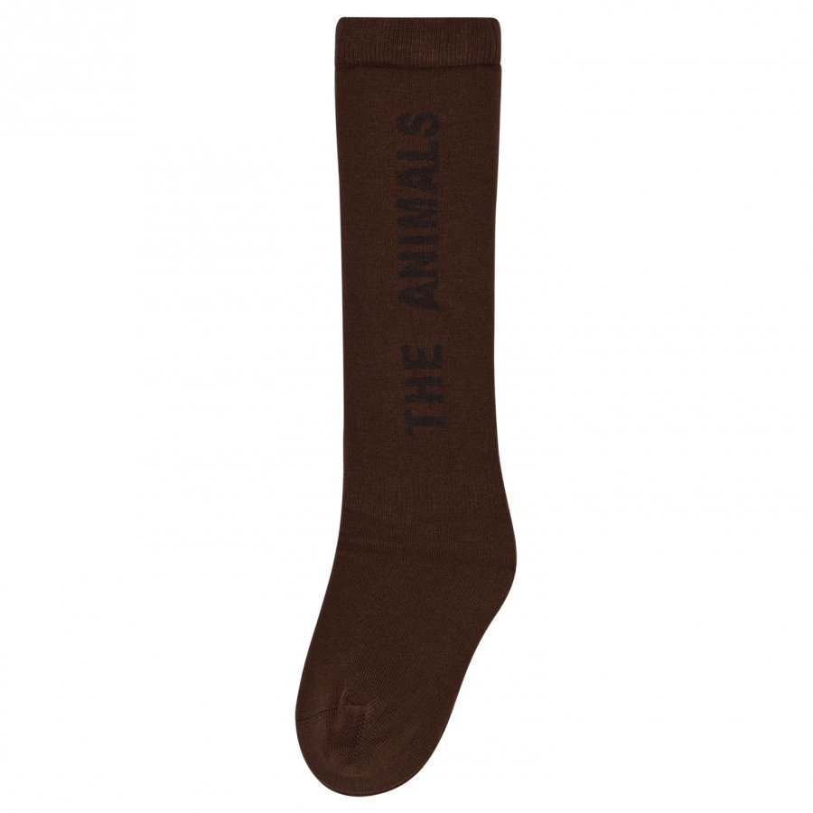 The Animals Observatory Worm Socks Deep Brown Sukat