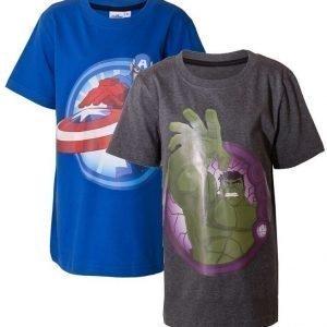 The Avengers T-paita 2 kpl Blue/Grey