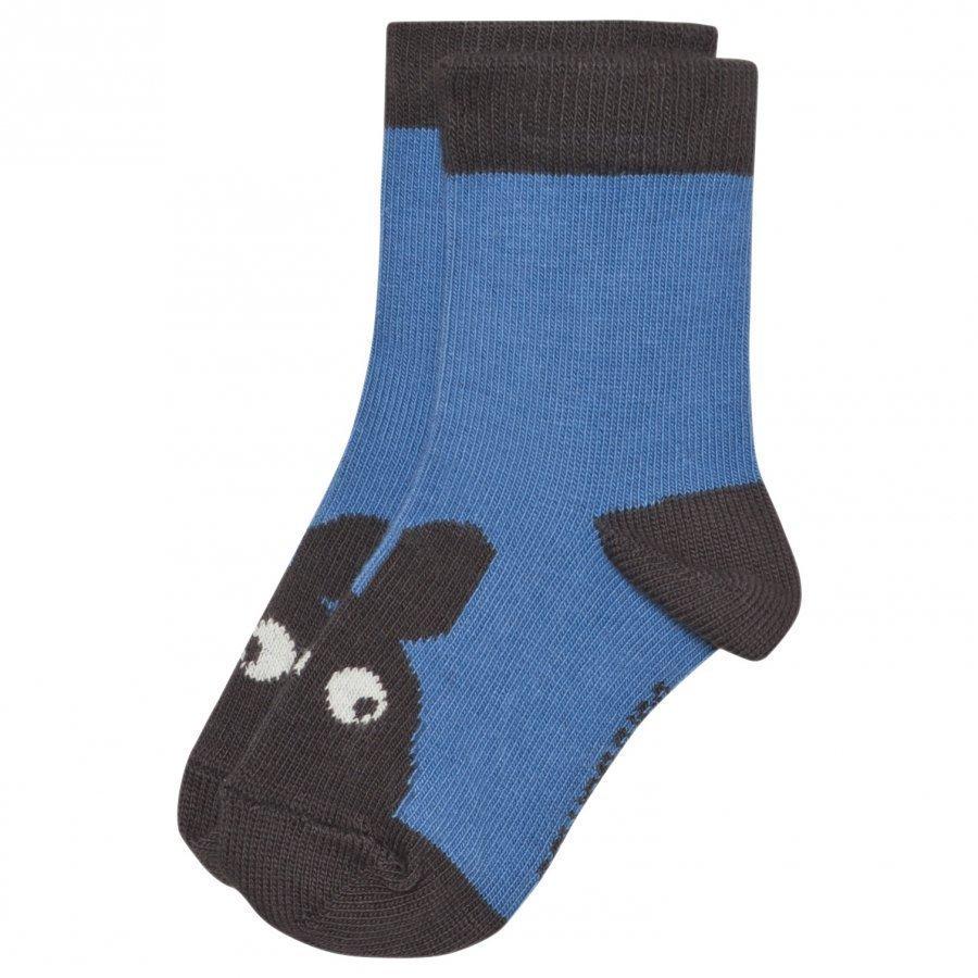 The Bonnie Mob Bunny Face Baby Socks Ocean Blue Sukat