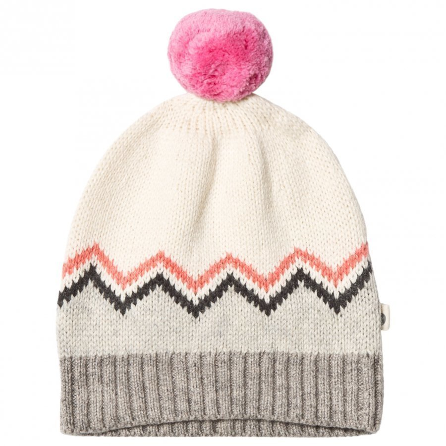 The Bonnie Mob Chunky Knitted Pom Pom Hat Pink Pipo