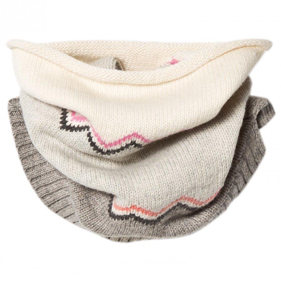 The Bonnie Mob Chunky Knitted Zig Zag Snood Pink Kietaisuhuivi