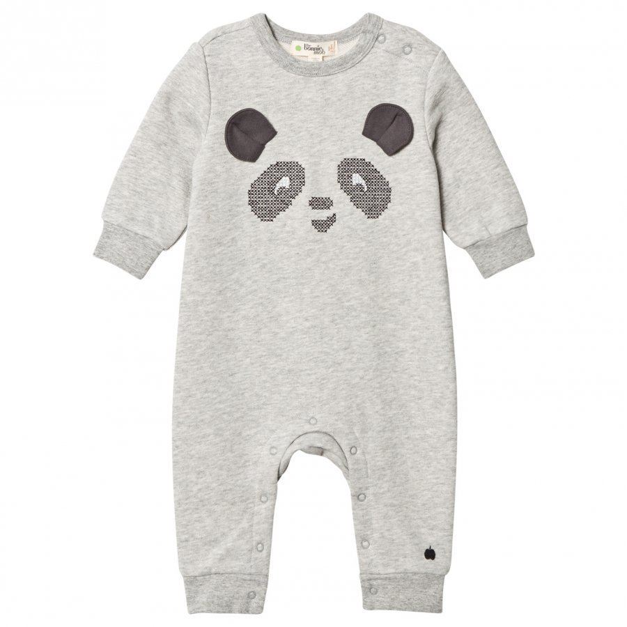 The Bonnie Mob Cross Stitch Panda One-Piece Grey Potkupuku