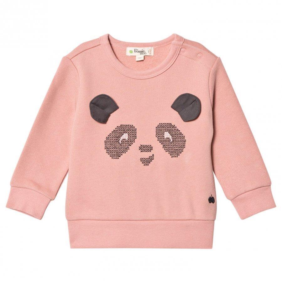 The Bonnie Mob Cross Stitch Panda Sweatshirt Powder Oloasun Paita