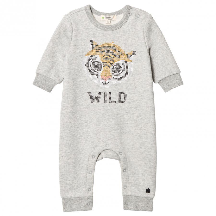 The Bonnie Mob Cross Stitch Tiger One-Piece Grey Potkupuku