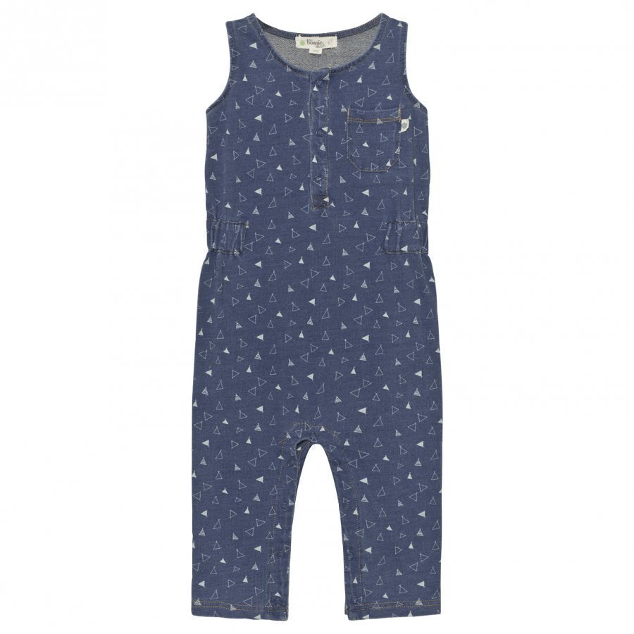 The Bonnie Mob Indigo Terry Sleeveless Jumpsuit Potkupuku
