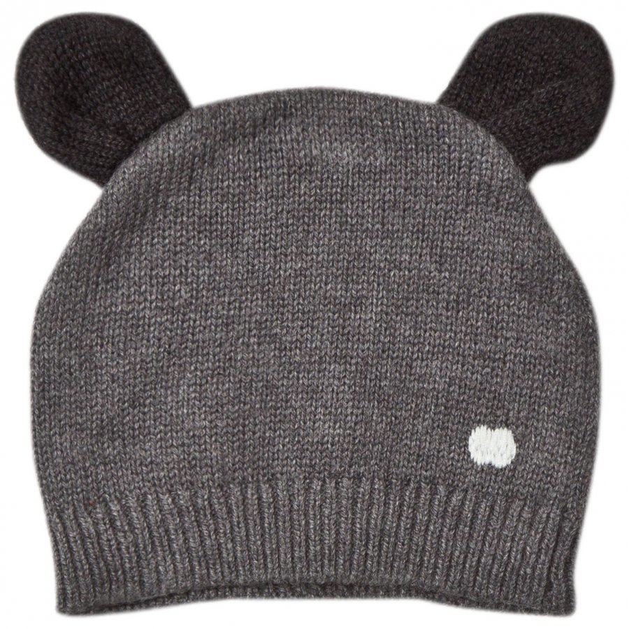 The Bonnie Mob Knitted Hat With Ears Dark Grey Pipo