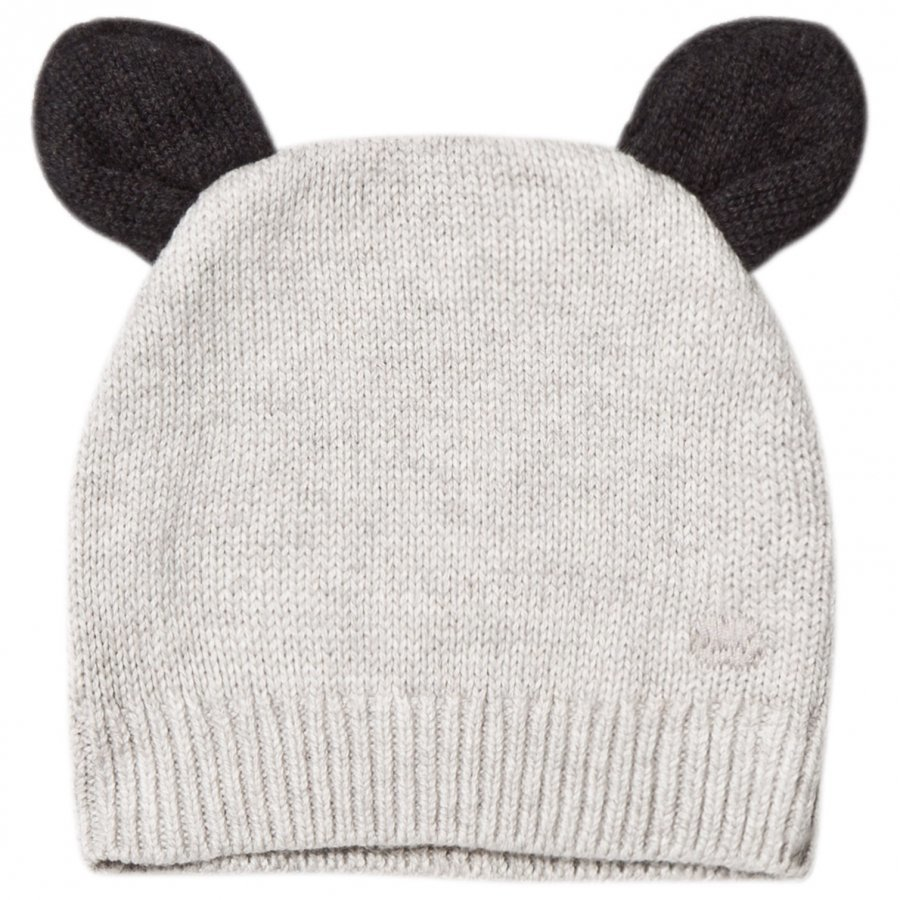 The Bonnie Mob Knitted Hat With Ears Light Grey Pipo
