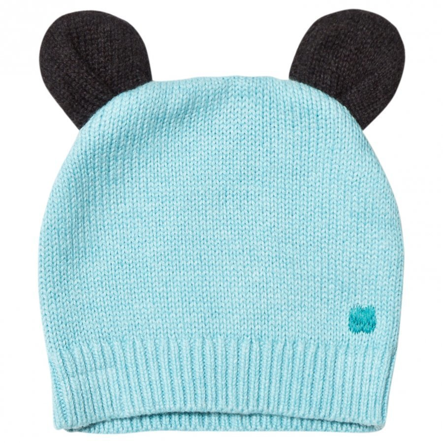 The Bonnie Mob Knitted Hat With Ears Pale Blue Pipo