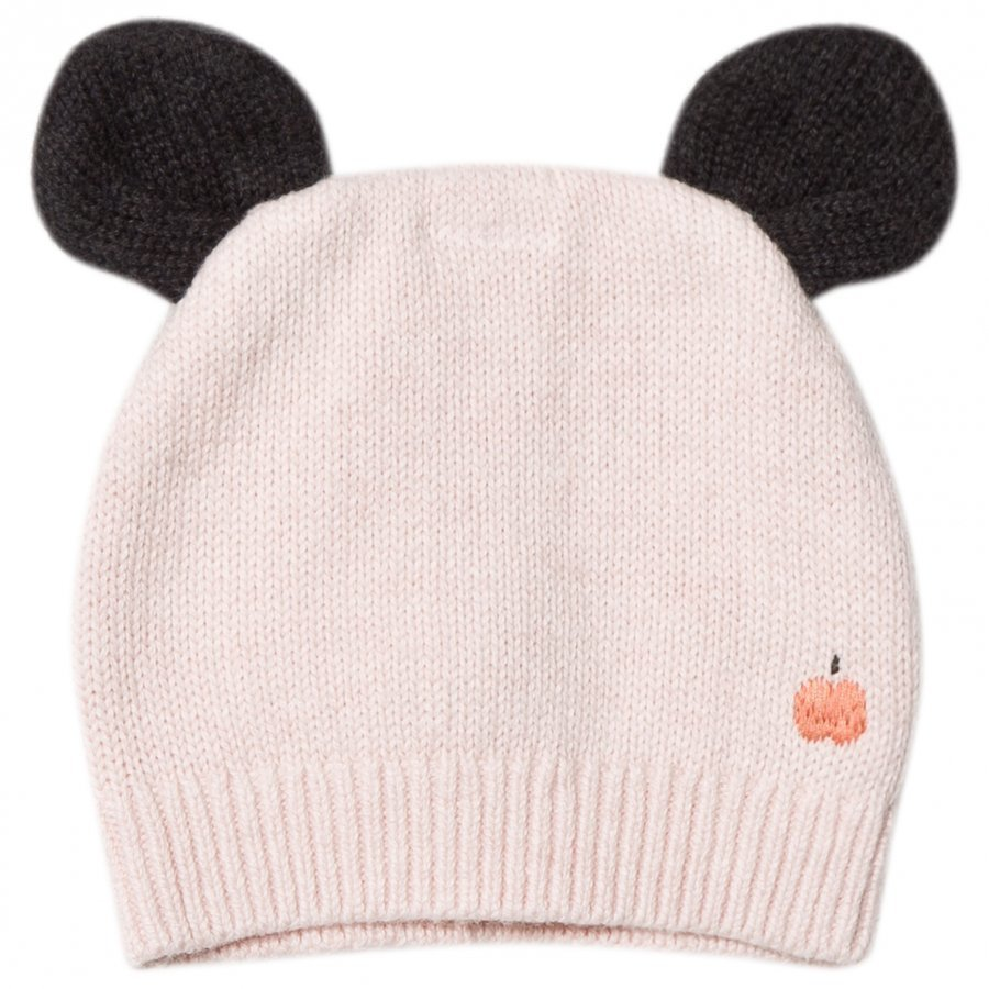 The Bonnie Mob Knitted Hat With Ears Pale Pink Pipo