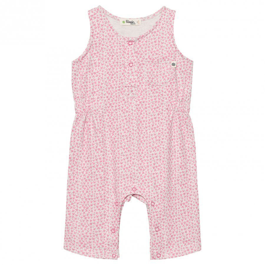 The Bonnie Mob Lightweight Terry Sleeveless Jumpsuit Pink Bunny Leopard Print Potkupuku