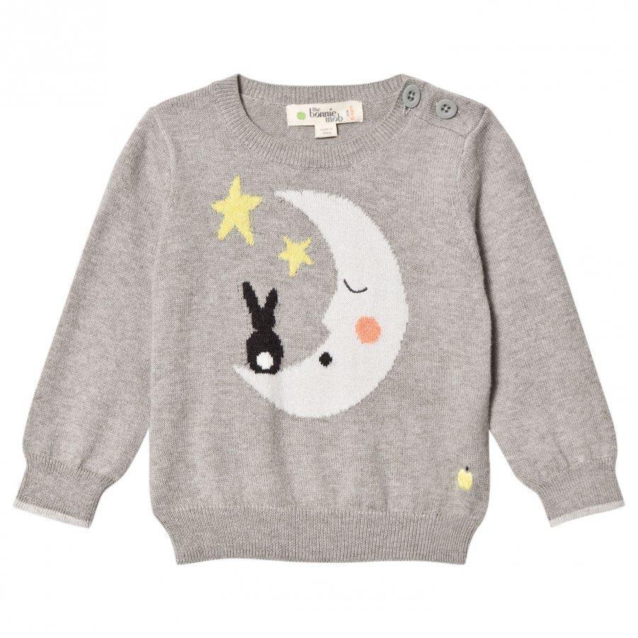 The Bonnie Mob Moon And Bunny Intarsia Sweater Grey Oloasun Paita