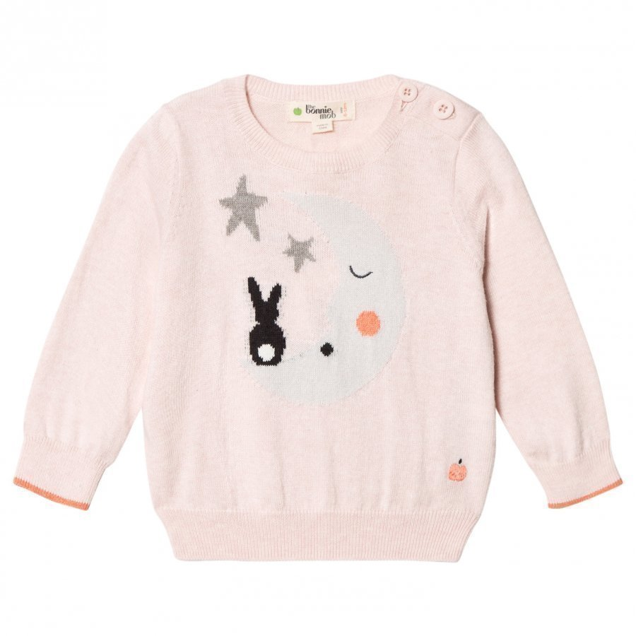 The Bonnie Mob Moon And Bunny Intarsia Sweater Pale Pink Oloasun Paita