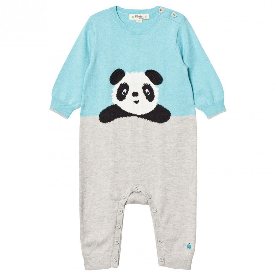 The Bonnie Mob Panda Intarsia One-Piece Pale Blue Body