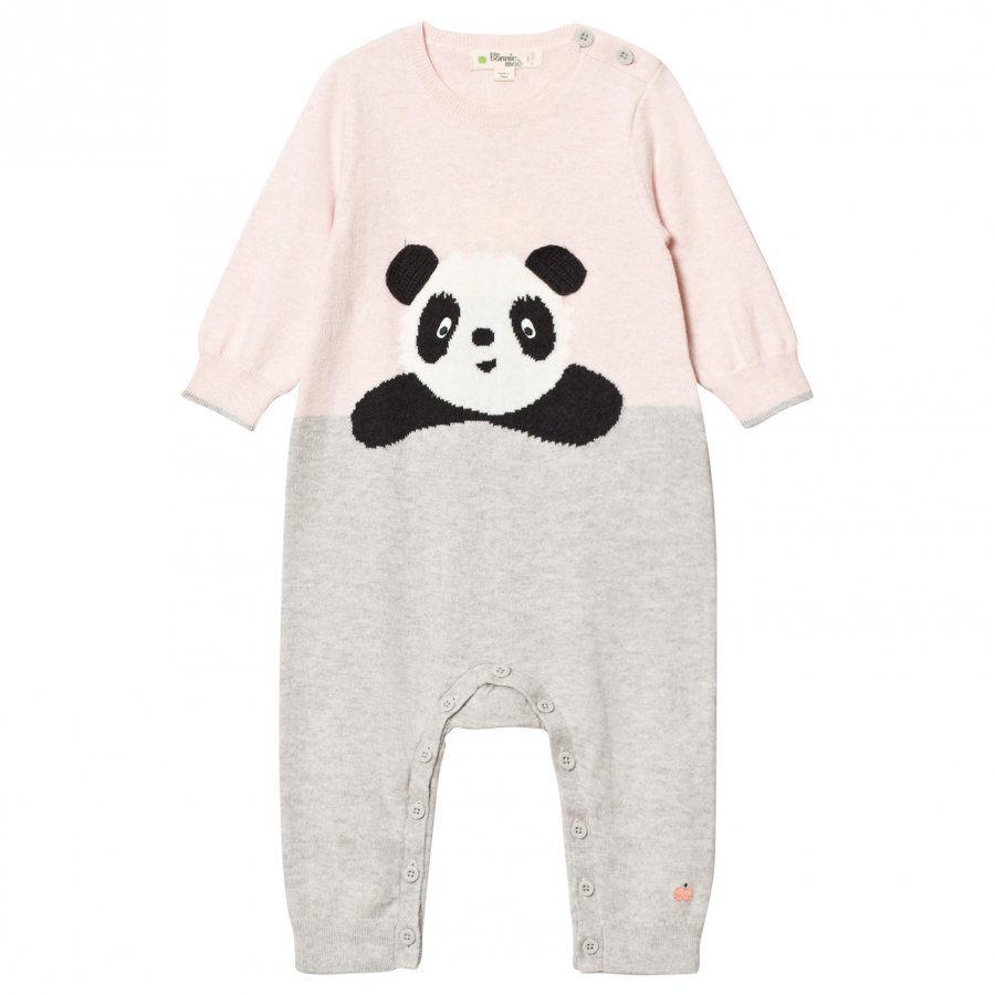 The Bonnie Mob Panda Intarsia Playsuit Pale Pinks Body
