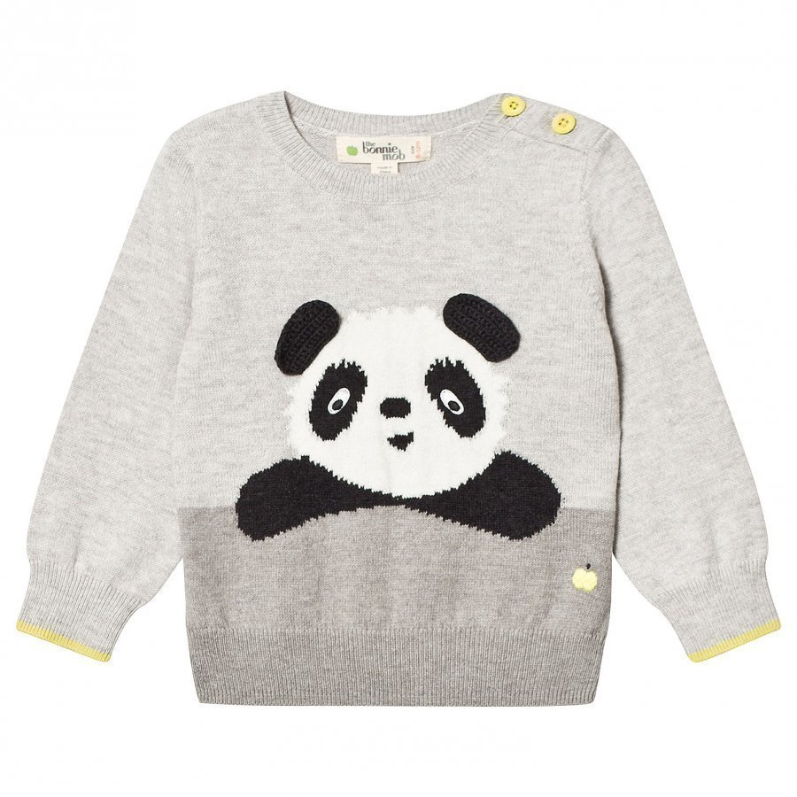 The Bonnie Mob Panda Intarsia Sweater Grey Paita