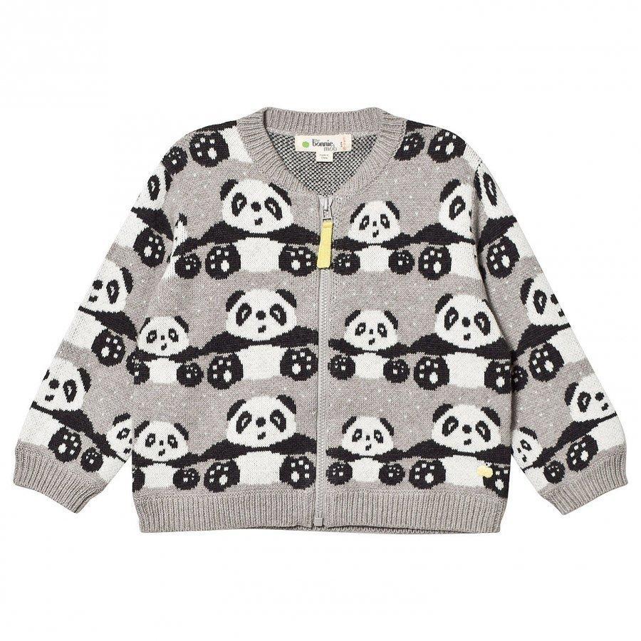The Bonnie Mob Panda Jacquard Cardigan Grey Oloasun Paita