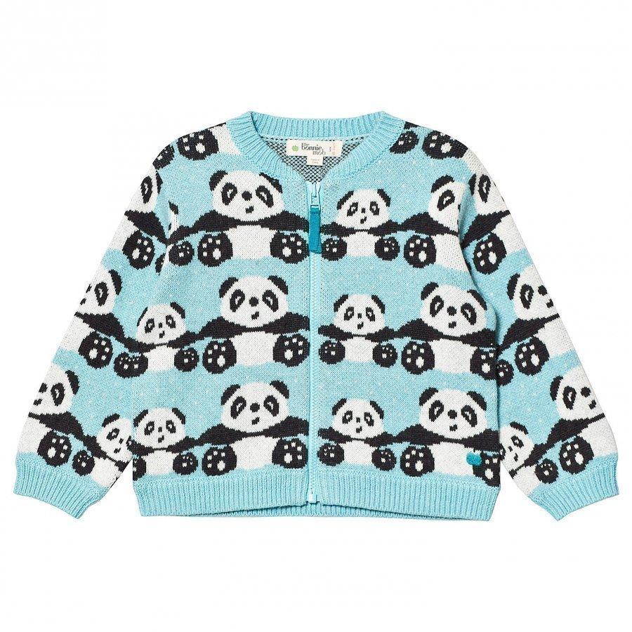 The Bonnie Mob Panda Jacquard Cardigan Pale Blue Oloasun Paita