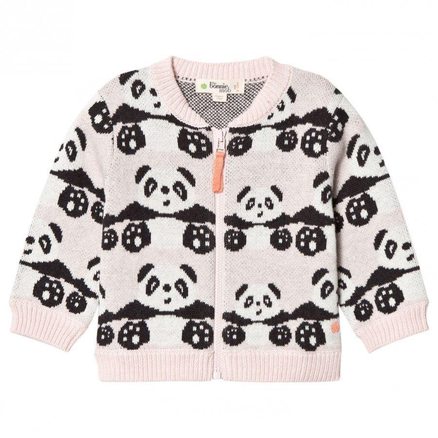 The Bonnie Mob Panda Jacquard Cardigan Pale Pink Oloasun Paita