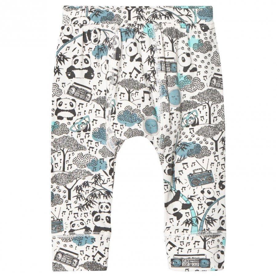 The Bonnie Mob Panda Print Baby Leggings Blue Legginsit