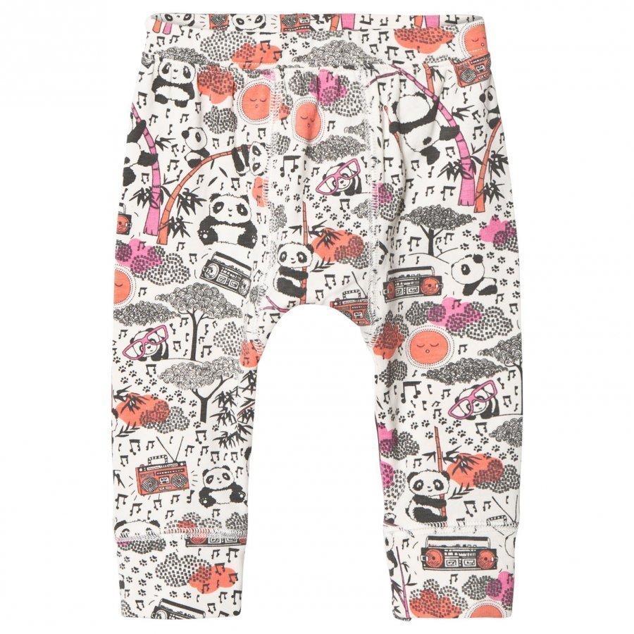The Bonnie Mob Panda Print Baby Leggings Pink Legginsit