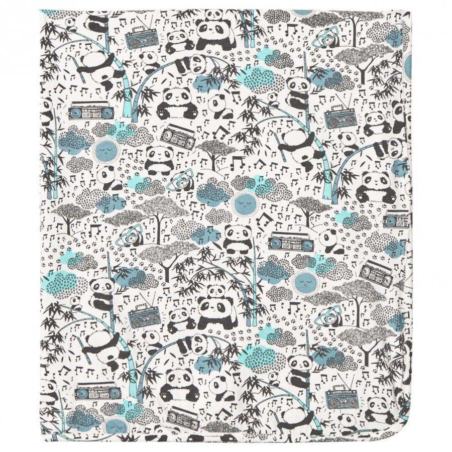 The Bonnie Mob Panda Print Blanket Blue Huopa