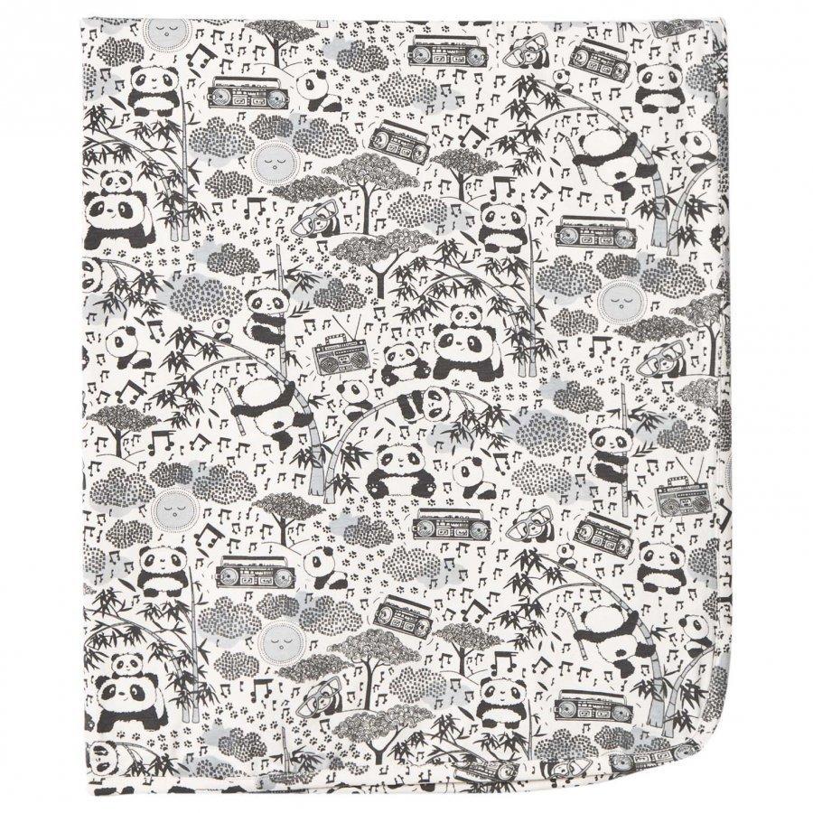 The Bonnie Mob Panda Print Blanket Grey Huopa