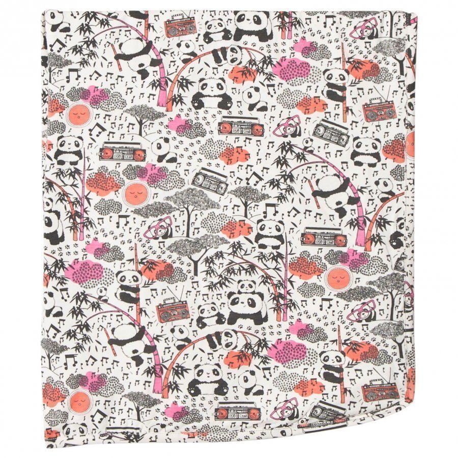 The Bonnie Mob Panda Print Blanket Pink Huopa
