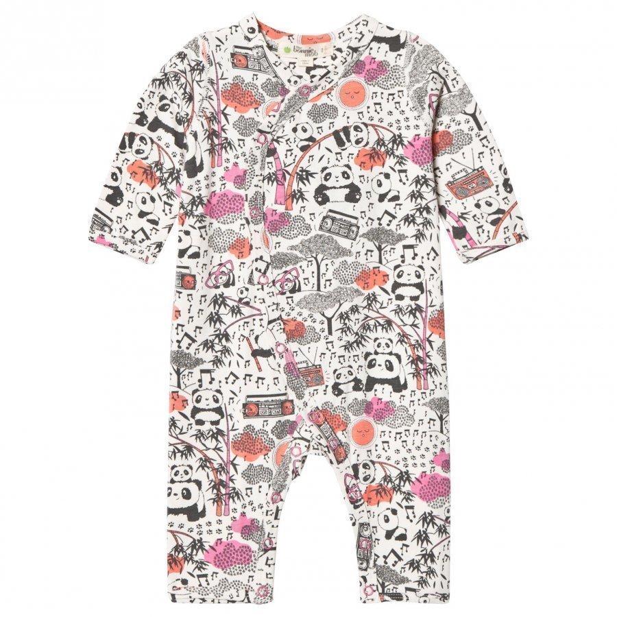 The Bonnie Mob Panda Print Kimono One-Piece Pink Body