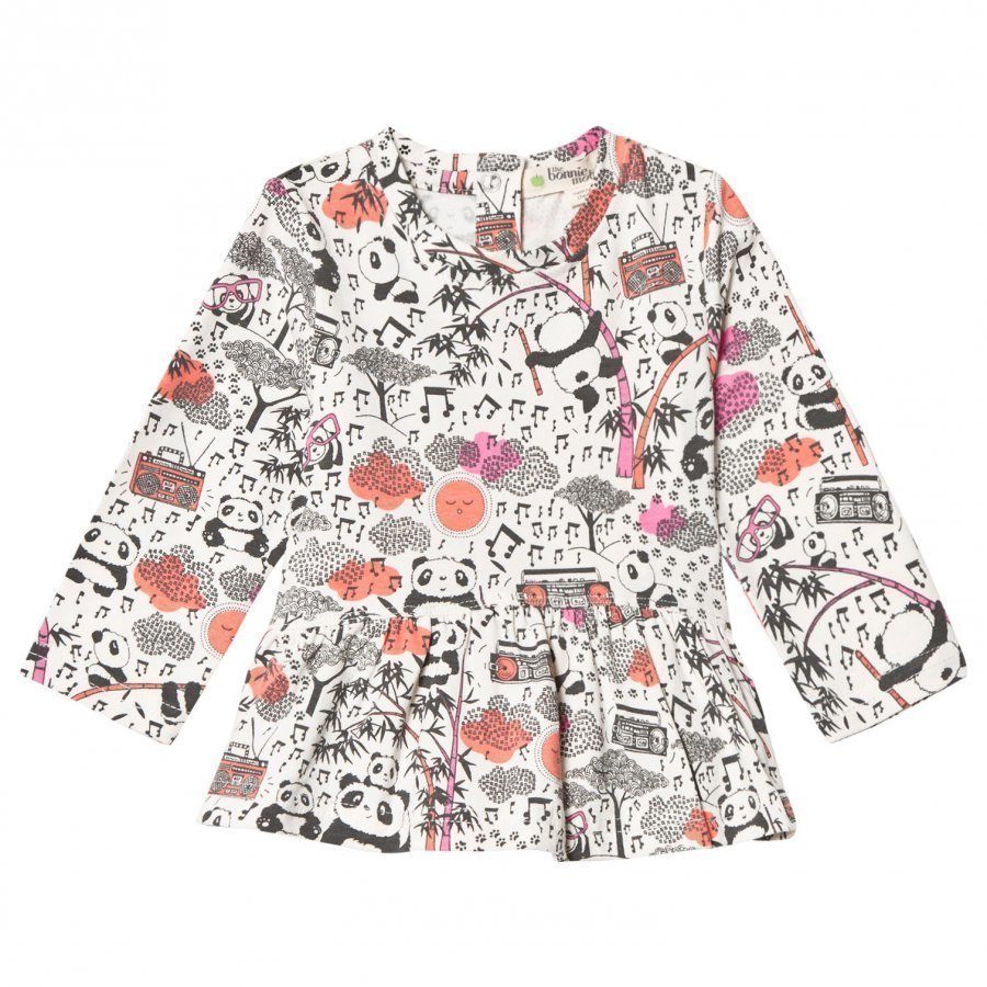 The Bonnie Mob Panda Print Top Pink Pusero