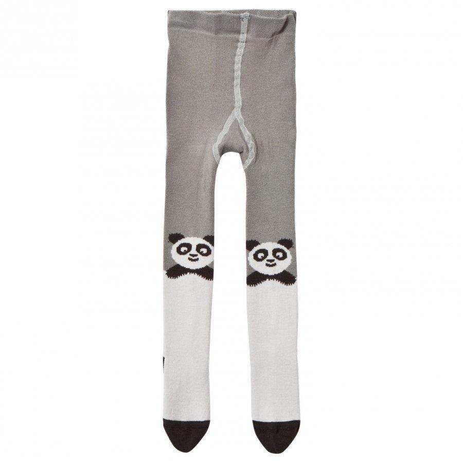 The Bonnie Mob Panda Tights Grey Sukkahousut