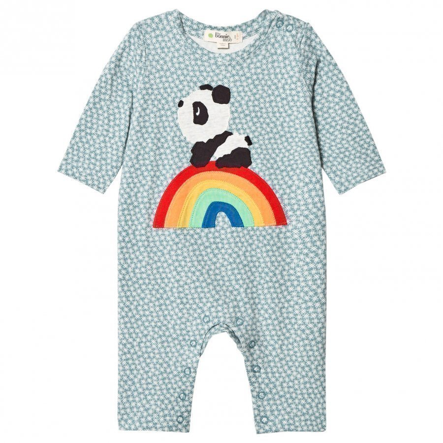 The Bonnie Mob Rainbow Panda One-Piece Hash Tag Blue Body