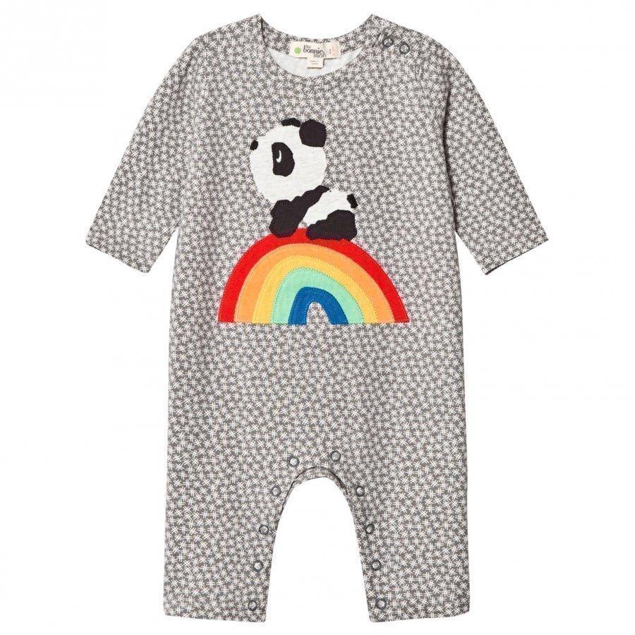 The Bonnie Mob Rainbow Panda One-Piece Hash Tag Grey Body