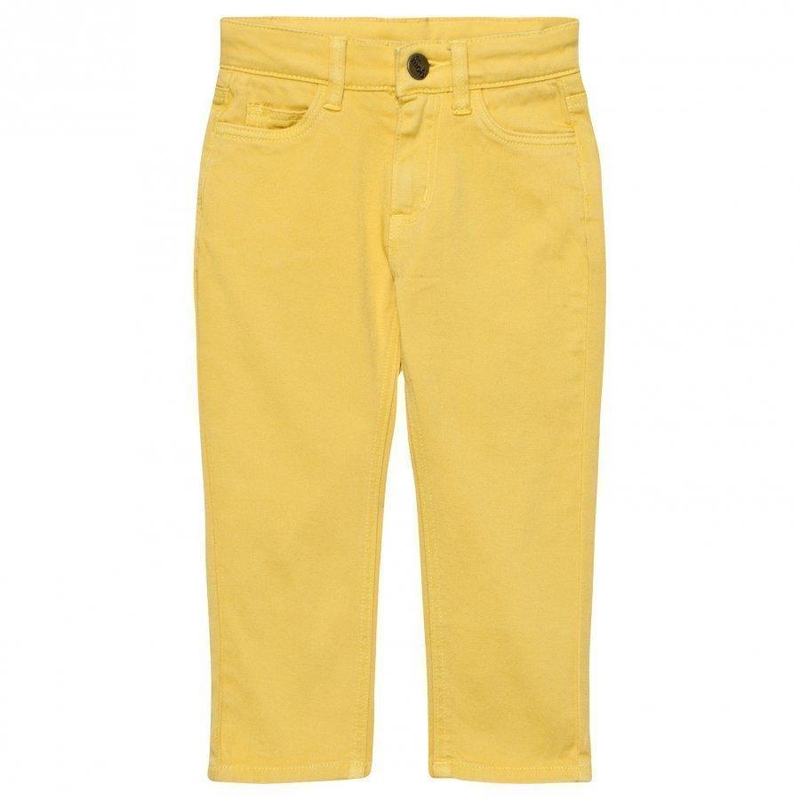 The Bonnie Mob Regular Fit Stretch Cotton Twill Bonnie Mob Jean Yellow Housut