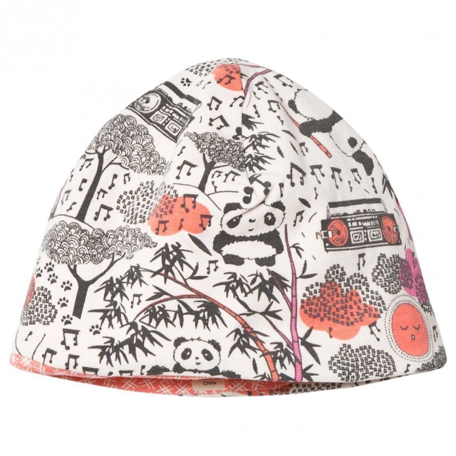 The Bonnie Mob Reversible Baby Beanie Panda Hat Pink Pipo