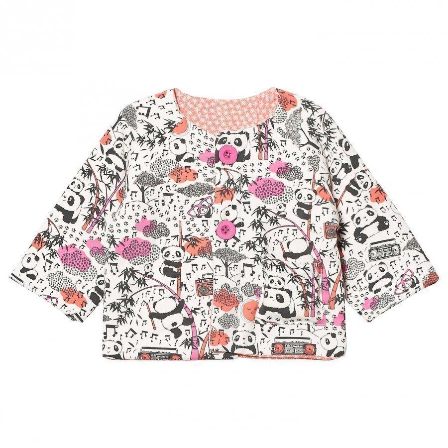 The Bonnie Mob Reversible Padded Baby Jacket Print Panda Toppatakki